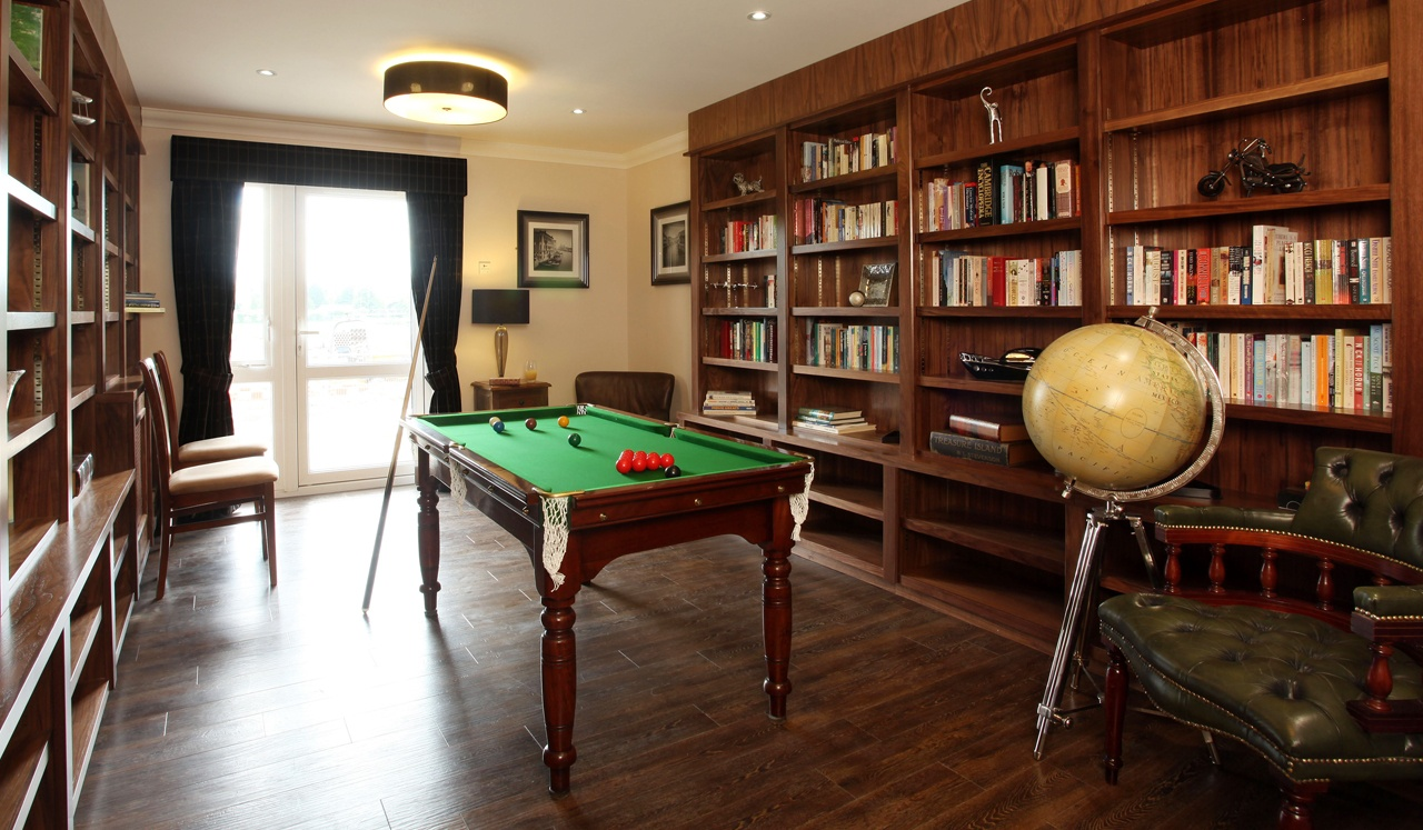 Play snooker in the games room