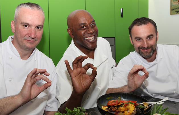 Watermill House chefs cooking with Ainsley Harriott