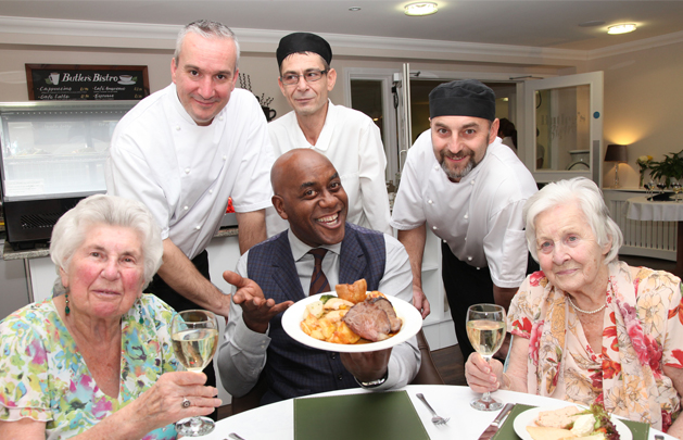 Ainsley Harriott Samples Fine Dining at Water Mill House